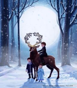 Couverture livre La Nuit du Premier Noël - Fleurus, Marylou Deserson
