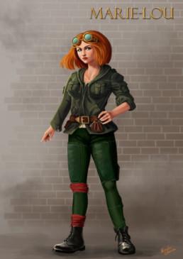 Illustration Fantasy Marie-Lou, Marylou Deserson