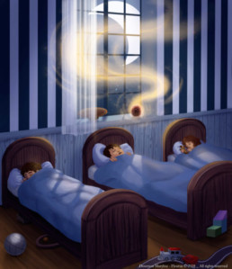 Illustration Livre La Nuit du Premier Noël - Fleurus, Marylou Deserson