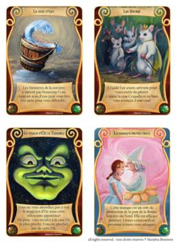 Illustration cartes, Jeu Magicien d'Oz, Marylou Deserson
