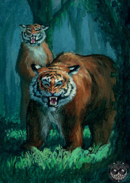 Illustration Fantasy Jeunesse tigres, Marylou Deserson